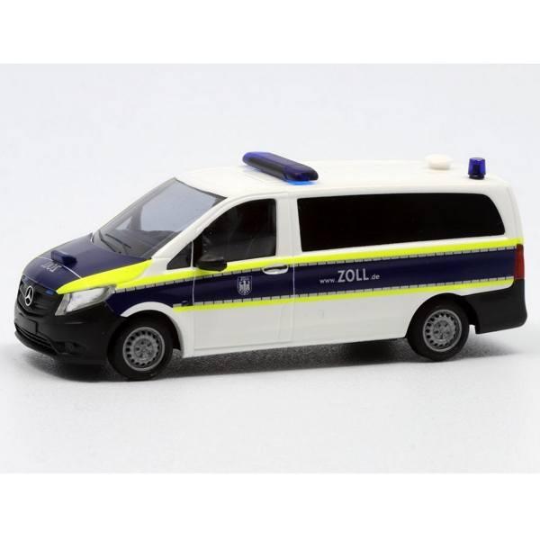 """51100-133 - Busch - Mercedes-Benz Vito Bus - Funkstreifenwagen """"Zoll"""" weiß/blau"""