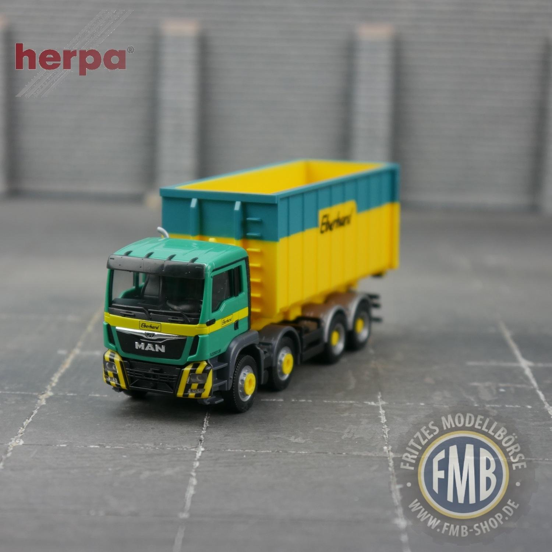 herpa 940375 MAN TGS M Euro 6c Abrollmulden-LKW 1:87 NEU OVP Eberhard CH