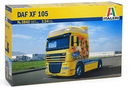 3842 - Italeri - Bausatz - DAF XF 105 2achs Zugmaschine, gelb mit Decals 1:24
