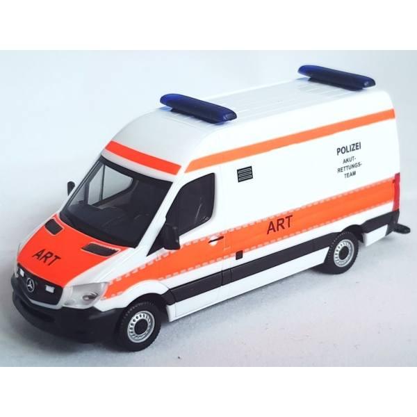 """939072 - Herpa - Mercedes-Benz Sprinter `13 RTW Rettungswagen """"Polizei ART"""""""