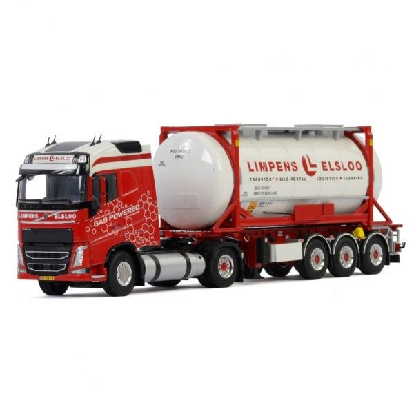 01-2928 - WSI - Volvo FH4 GL 4x2 mit 3achs Containerauflieger + 20 ft Tankcontainer - Limpens  -NL -