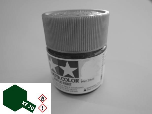 81370 - Tamiya - Acrylfarbe 23ml, dunkelgrün matt XF-70