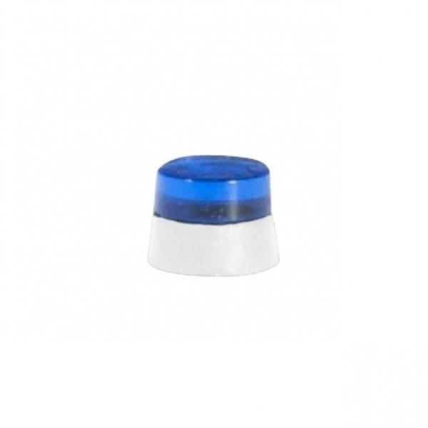 053570 - Herpa - Flache Rundumleuchten blau - 20 Stück mit weißen Sockel