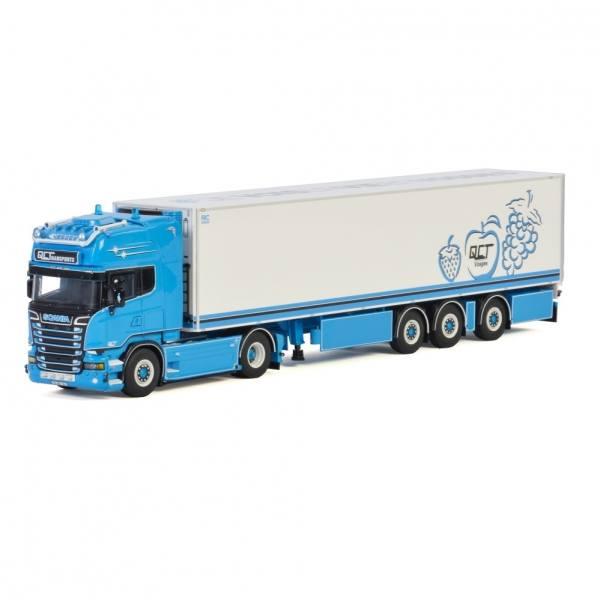 01-3143 - WSI - Scania Streamline TL 4x2 mit 3achs Kühlauflieger - QC Transport - F -