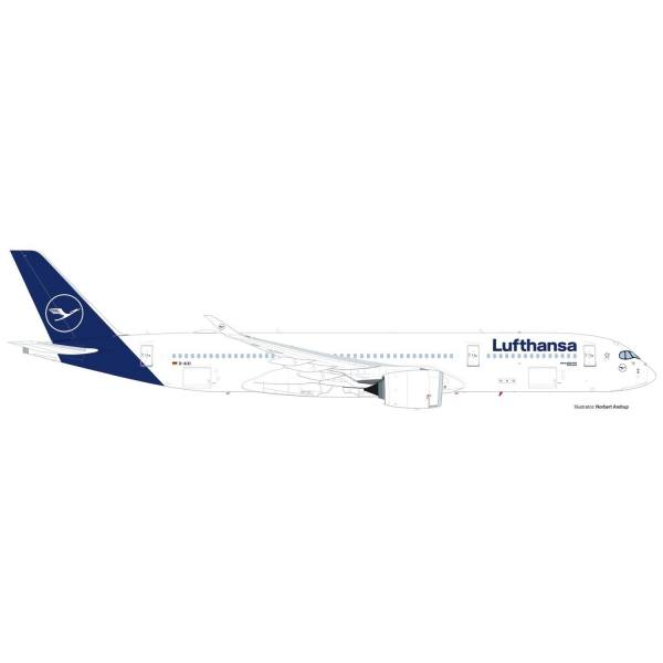 """559577 - Herpa - Lufthansa Airbus A350-900 """"Schwerin"""" new colors"""
