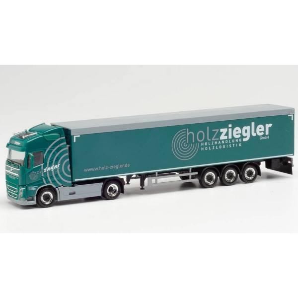 """943116 - Herpa - Volvo FH4 Globetrotter Schubboden-Sattelzug """"Holz Ziegler"""""""