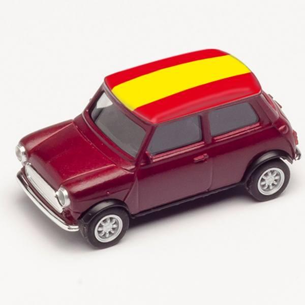 """420747 - Herpa - Mini Cooper, dunkelrot """"EM 2021 - Spanien"""""""