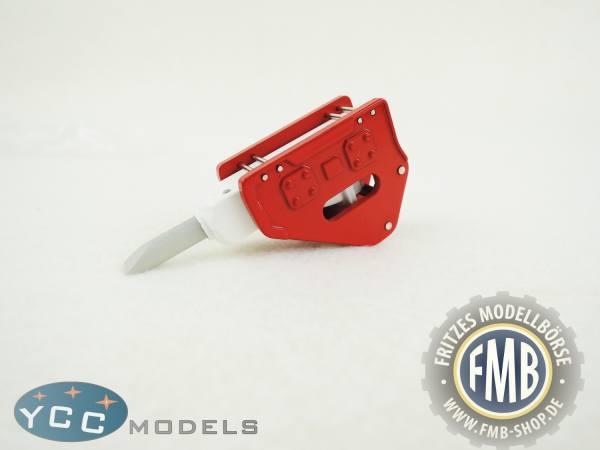 YC402-1R - YCC Models - Hammer für Baggermodelle in rot/weiß