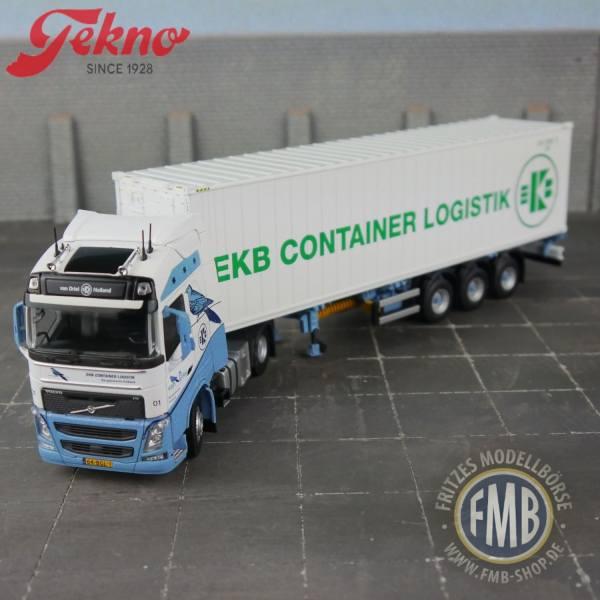 74526 - Tekno - Volvo FH04 GL mit 3achs Auflieger und 40ft Kühlcontainer - van Driel / EKB - NL -