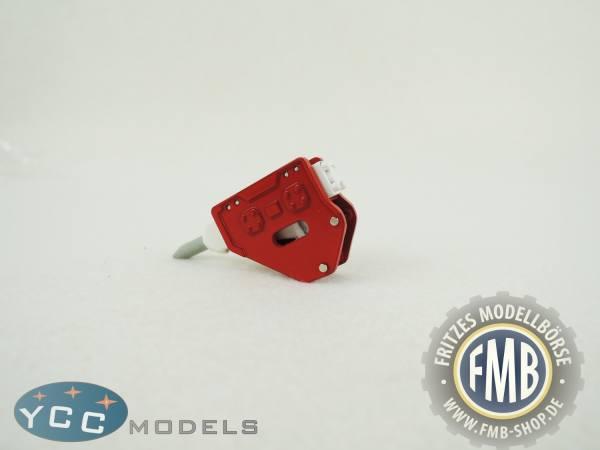 YC401-1R - YCC Models - Hammer für Baggermodelle in rot/weiß