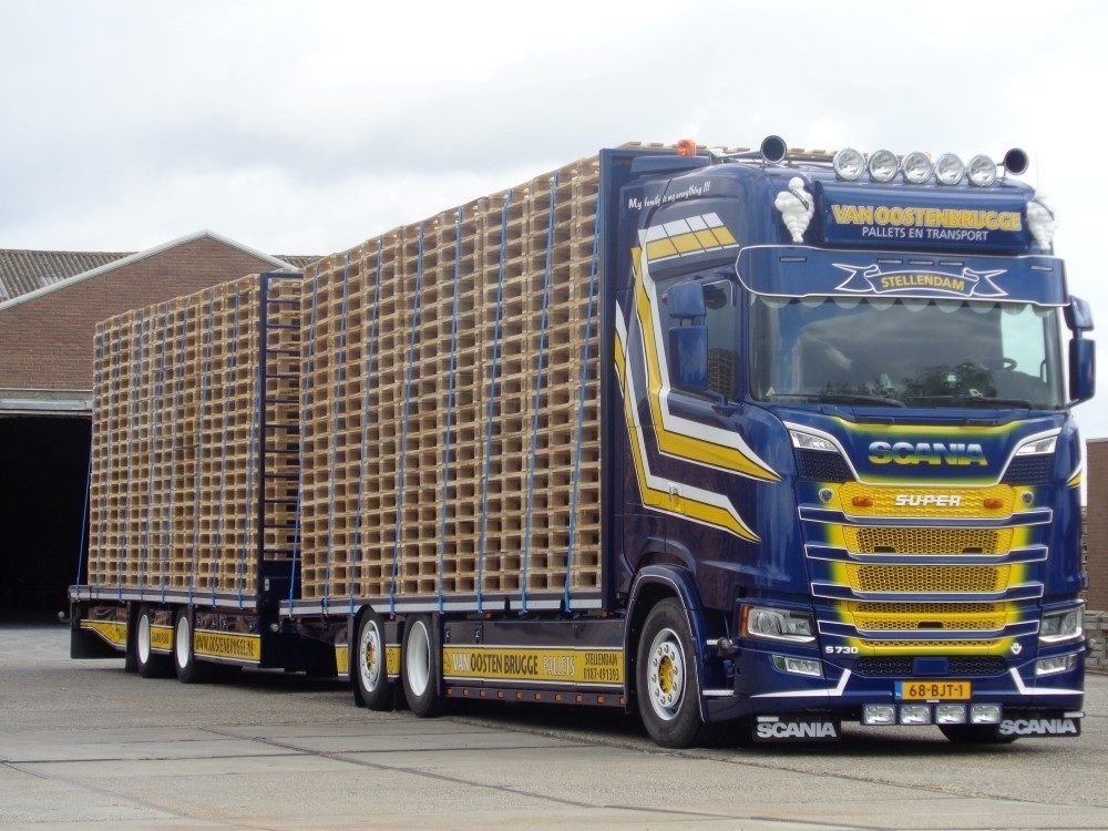 72740 - Tekno - Scania S730 HL combi and Cargo pallets - Oostenbrugge - NL -