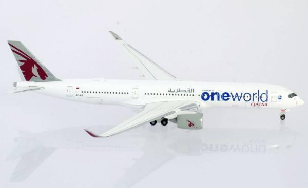 """533829 - Herpa - Qatar Airways  Airbus A350-900  """"One World"""""""