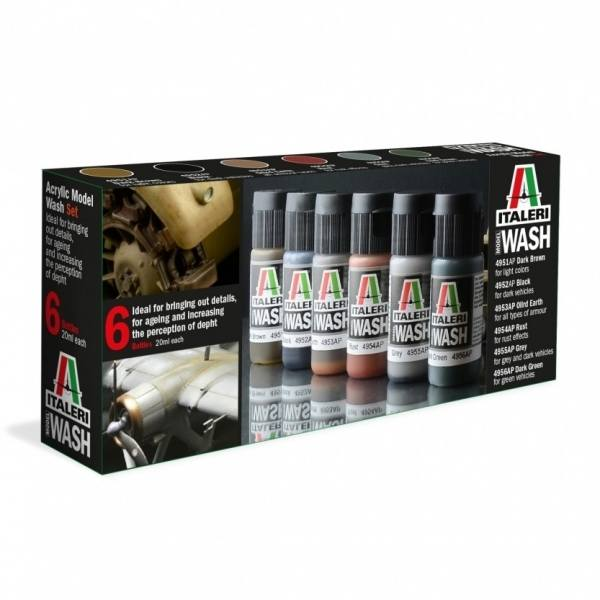 448 - Italeri - Acrylfarben Model Wash Set
