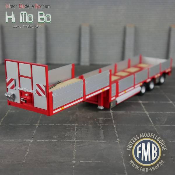 1007024 - Himobo - norwegischer 3achs Tele-Auflieger - rot