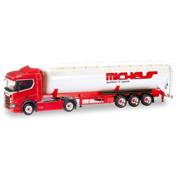 "307598 - Herpa - Scania CR20 Highline Silo-Sattelzug ""Michels"""