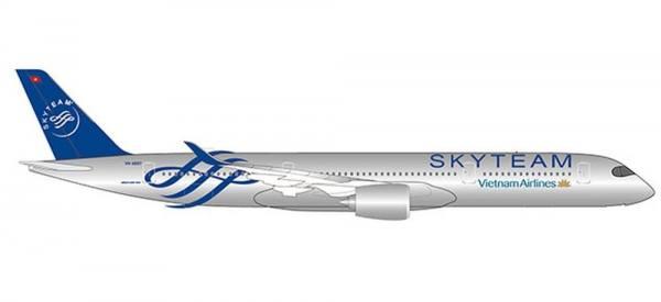 """532693 - Herpa - Vietnam Air  Airbus A350-900  """"SkyTeam"""" - 1:500"""