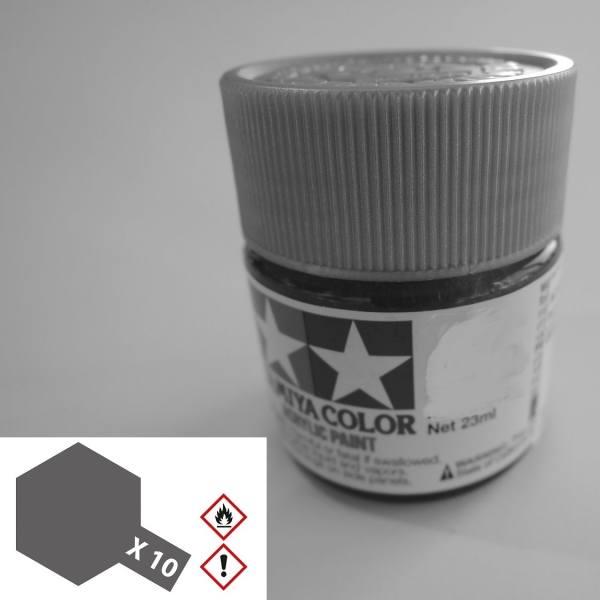 81010 - Tamiya - Acrylfarbe 23ml, gun metal / grau glänzend X-10