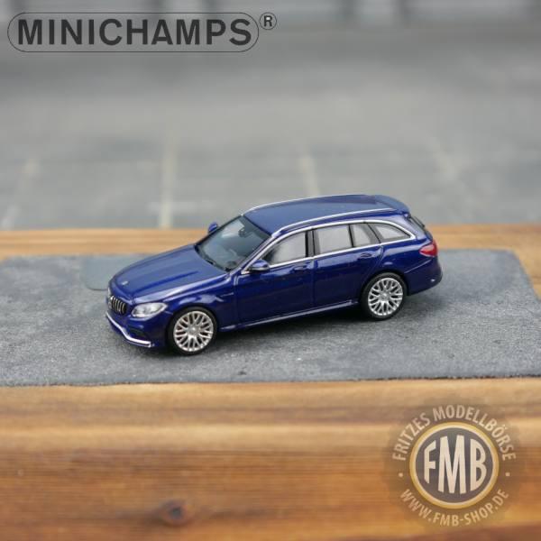 038111 - Minichamps - Mercedes-Benz AMG C 63 T (2019), blau metallic