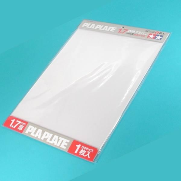 70128 - Tamiya - Kunststoffplatte 1,7mm (1) 257x364mm, weiß