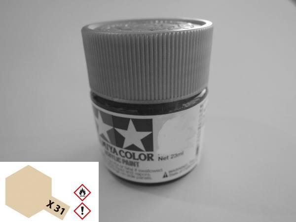 81031 - Tamiya - Acrylfarbe 23ml, titanium gold glänzend X-31