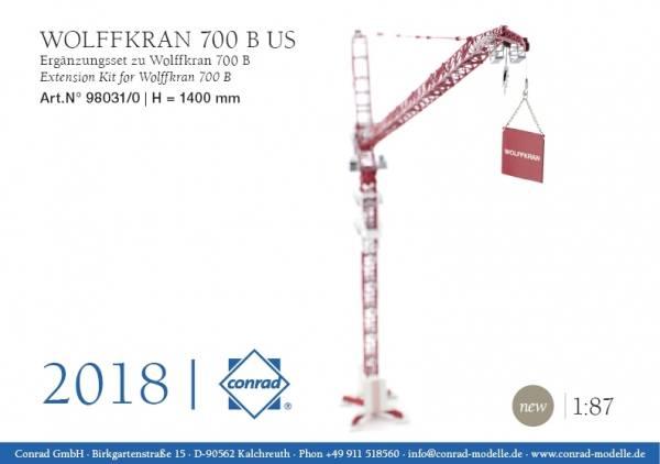 98031/0- Conrad - Wolffkran 700B US mit Fly Jib Ergänzungsset