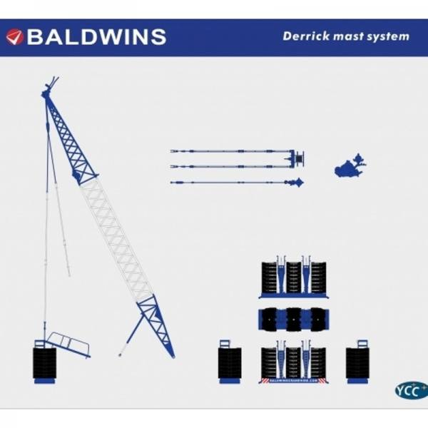 YC772-5 - YCC Models - Derrick System für Liebherr LTM 1800 - Baldwins -