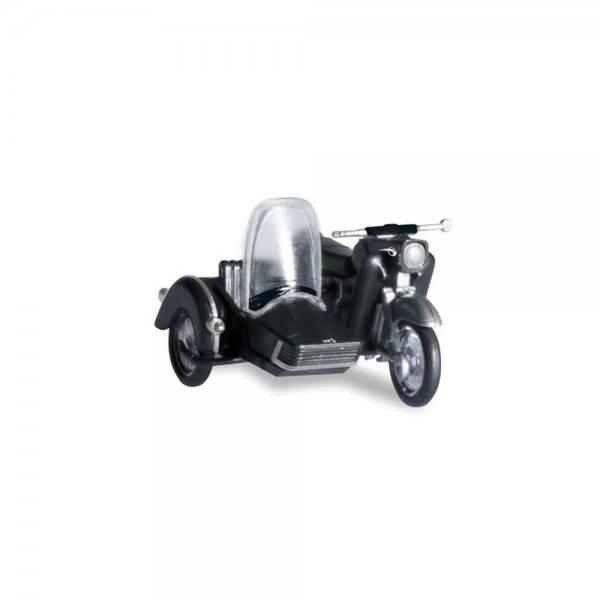 053433-004 - Herpa - MZ 250 Motorrad mit Beiwagen, schwarz
