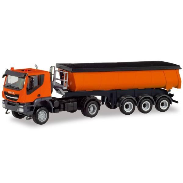 311373 - Herpa - Iveco Trakkker 4x4 Thermomulden-Sattelzug, kommunalorange