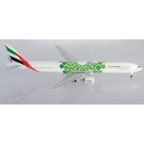 """533720 - Herpa - Emirates  Boeing 777-300ER """"Expo 2020 Dubai / Sustainability"""""""
