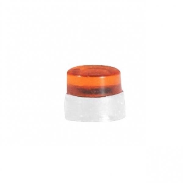053563 - Herpa - Flache Rundumleuchten LKW, orange - 20 Stück mit weißen Sockel