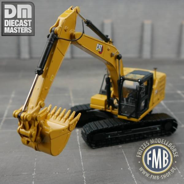85657 - Diecast Masters - CAT 323 Kettenbagger mit Schnellwechsler & 5 Anbauteile - Next Gen