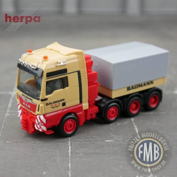"""944182 - Herpa - MAN TGX XXL 4achs Schwerlastzugmaschine mit Ballastpritsche """"Baumann"""""""