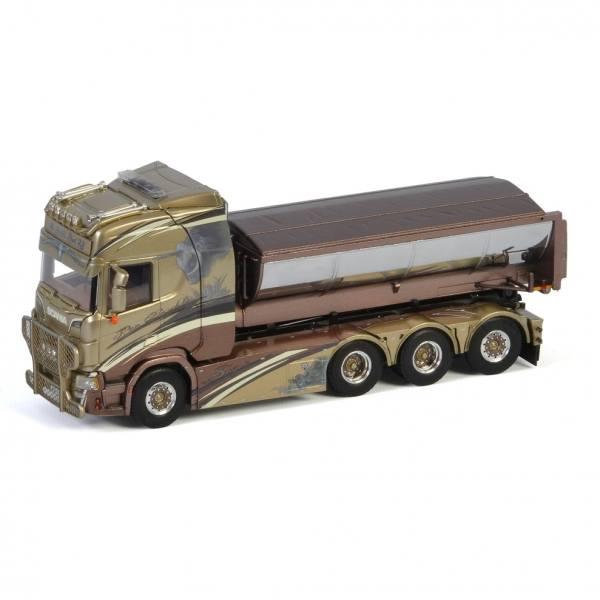 01-3138 - WSI - Scania R HL 8x4 mit Hakensystem und Asphalt Container - Per Broddes - S -