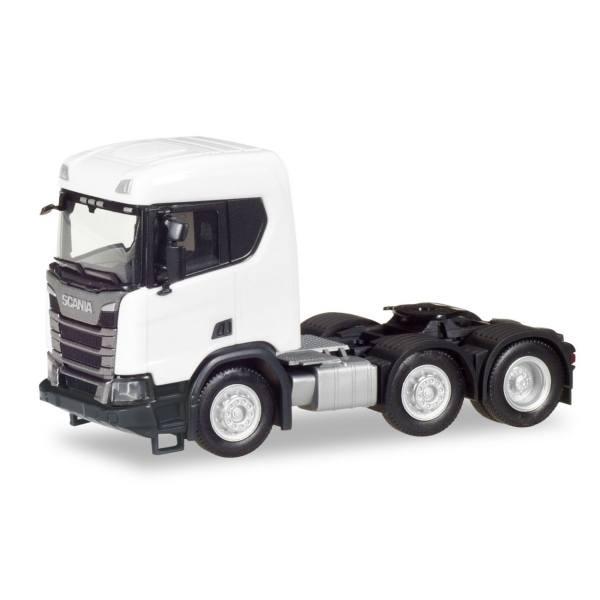 309028 - Herpa - Scania CR XT 6x2 Bau-Zugmaschine, weiß