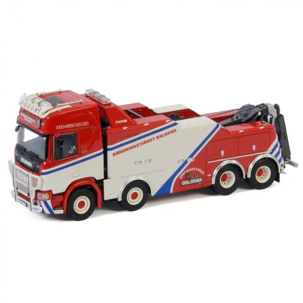 01-3009 - WSI - Scania R HL CR20H 8x4 Falkom 4achs Bergefahrzeug - Dalarna - S -