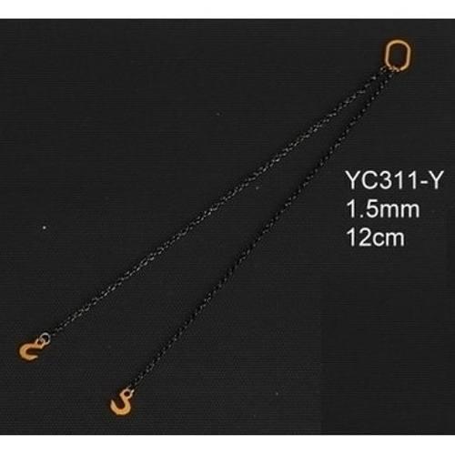 YC311-Y - YCC - Anschlagketten 12cm mit 2 Haken 1.5mm, gelb