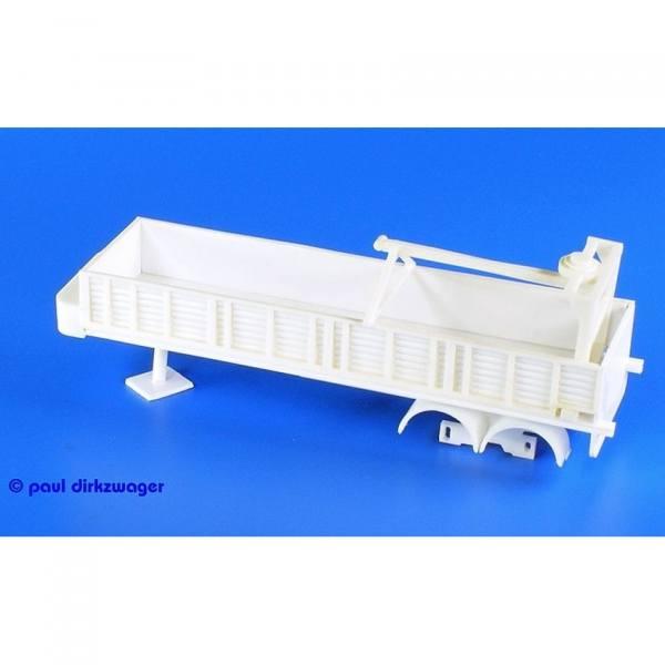 100142 - Bausatz - Steinauflieger 2achs, unlackiert - Kunststoff - ohne Räder