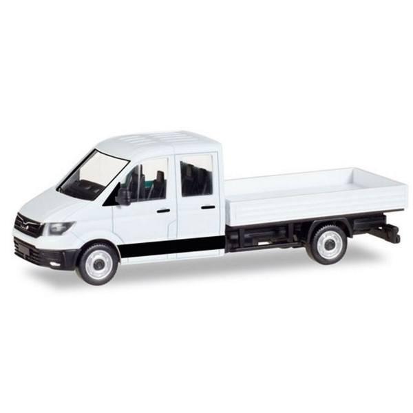 013215 - Herpa - MiniKit MAN TGE DoKa mit Pritsche, weiß