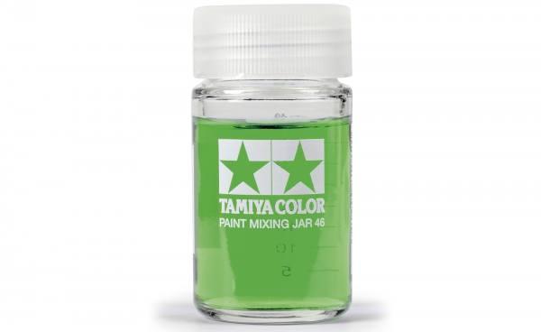 81042 - Tamiya - Farb Mischglas 46ml, rund mit Skala