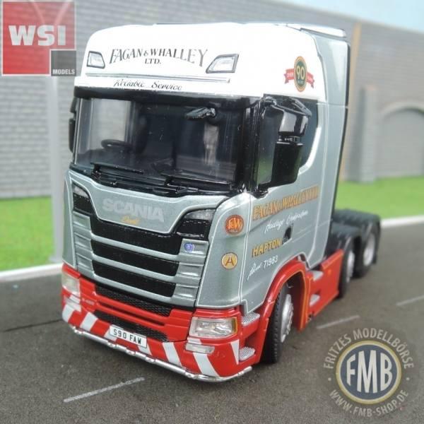 02-2141 - WSI - Scania S Highline 6x2 3achs Zugmaschine - Fagan & Whalley - UK -
