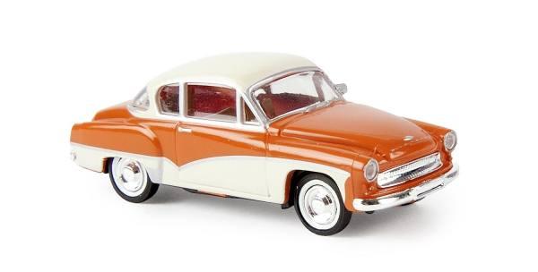 27152 - Brekina - Wartburg 311 Coupe -orange/hellelfenbein--