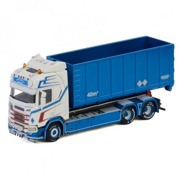 01-2914 - WSI - Scania R HL CR20H mit Hakensysten und 40m³ Container - Loods Akeri - S -