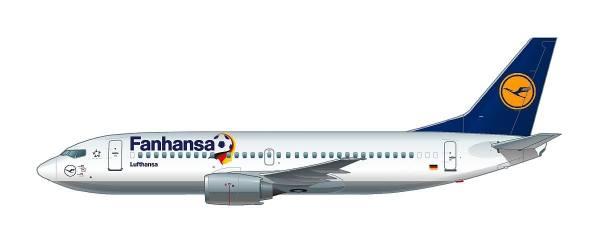 """611220 - Herpa - Lufthansa Boeing 737-300 """"Fanhansa"""""""