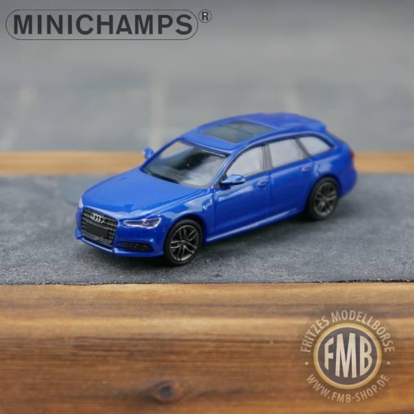 018112 Minichamps Audi A6 Avant 2018 Sprint Blue Pearleffect