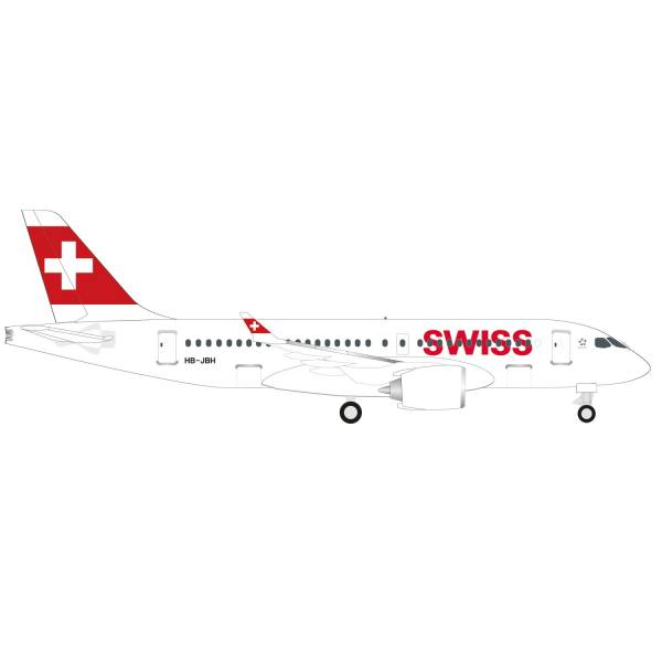 """530736-001 - Herpa Wings - Swiss Int. Air Lines Airbus A220-100 """"Ascona"""""""