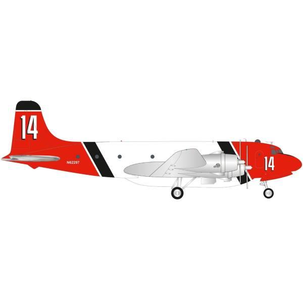 570954 - Herpa - Aero Union Douglas C-54 Skymaster Air Tanker - N62297 / 14 -