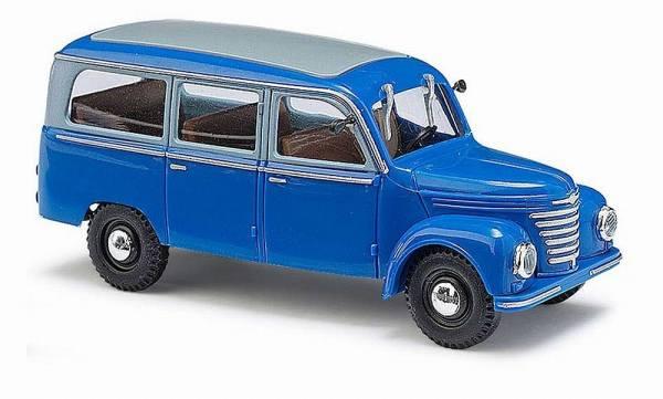 51251 - Busch - Framo V901/2 Bus blau  (Baujahr 1954) DDR