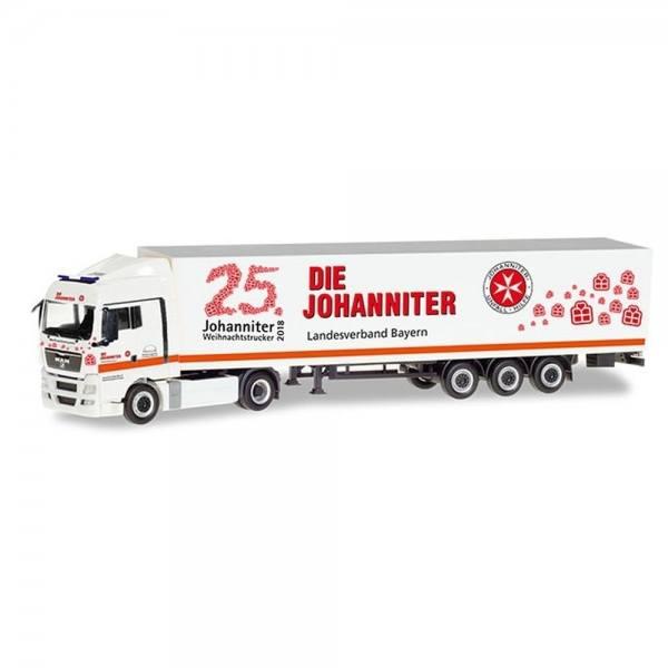 "309851 - Herpa - MAN TGX XLX Koffer-Sattelzug ""Johanniter LV Bayern / Weihnachtstrucker"""