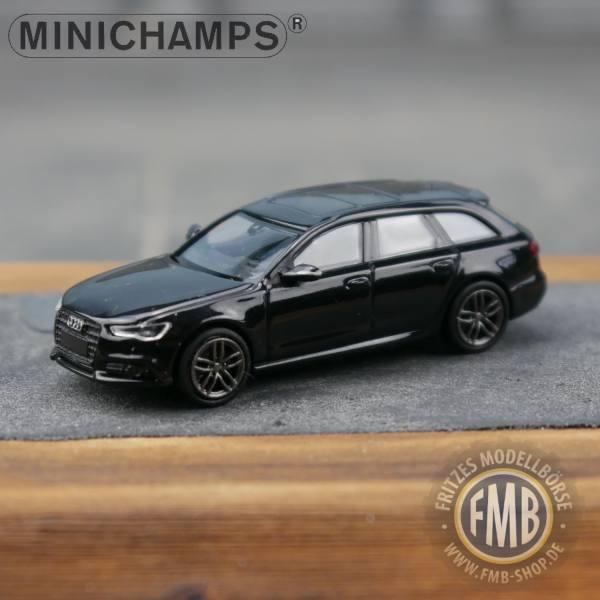 018110 - Minichamps - Audi A6 Avant S-Line (2014-18), mythosschwarz metallic
