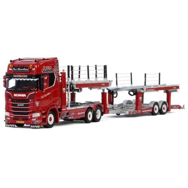01-2977 - WSI - Scania S HL 6x2 mit 2achs Anhänger Auto Transporter - Per Hendriksen - DK -